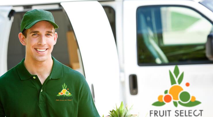 Véhicule de livraison de la société Fruitselect
