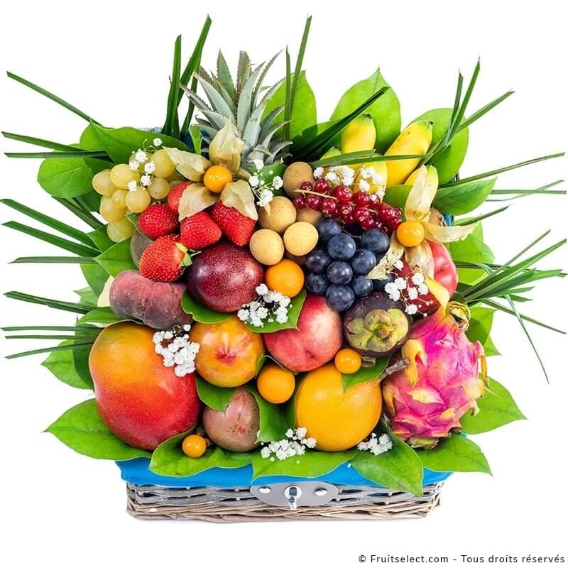 Corbeille de fruits exotiques en livraison pour roch hachana
