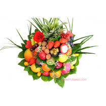 Roses Fruits Cadeau St Valentin