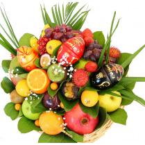 Pâques corbeille de Fruits à offrir