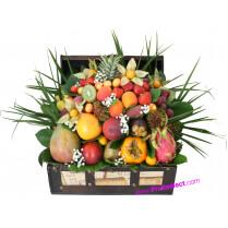 Corbeille fruits exotiques à offrir clients