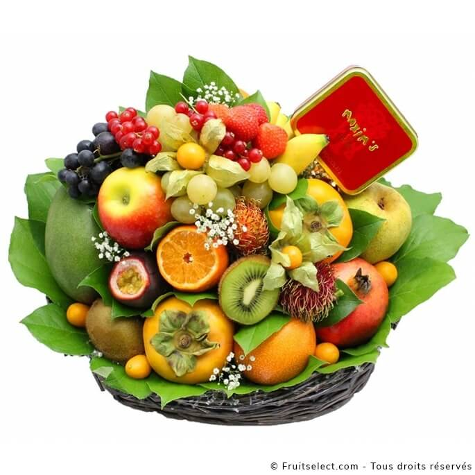 corbeille fruits noel