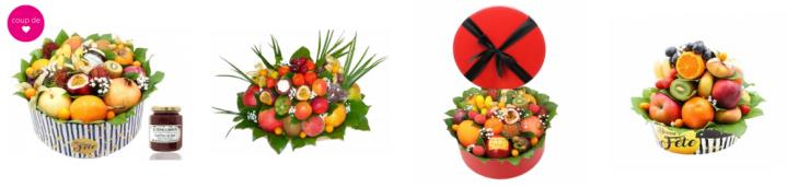 confection manuelle de bouquets de fruits